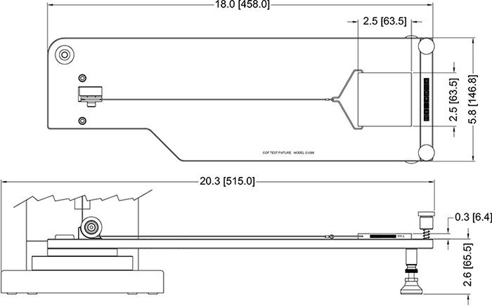 Dimensiones kit de medicion coeficionte de friccion dinamica y estatica